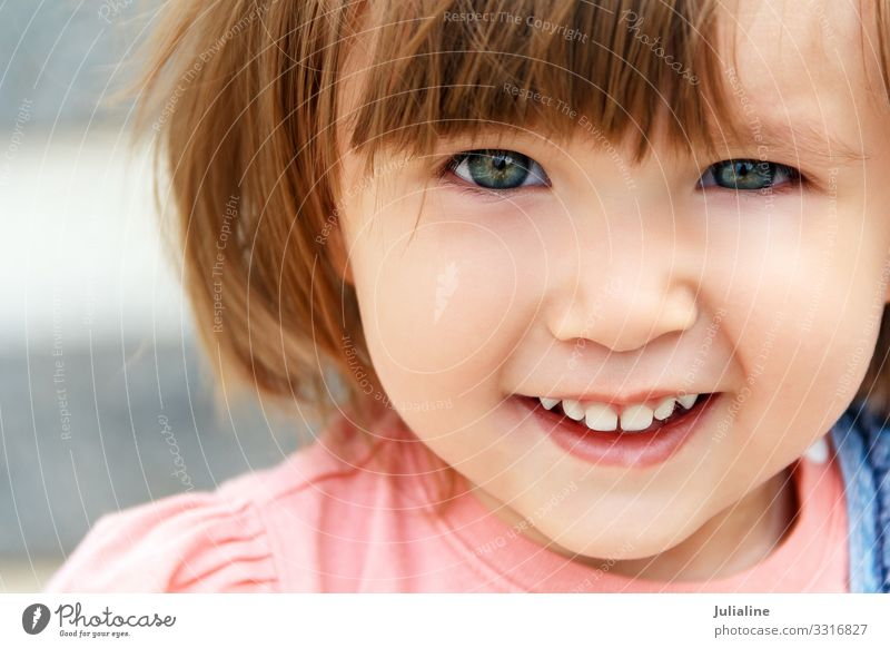 Caucasian girl with short hair Child Baby Woman Adults Blonde White kid European one two three Lady Colour photo Multicoloured Portrait photograph
