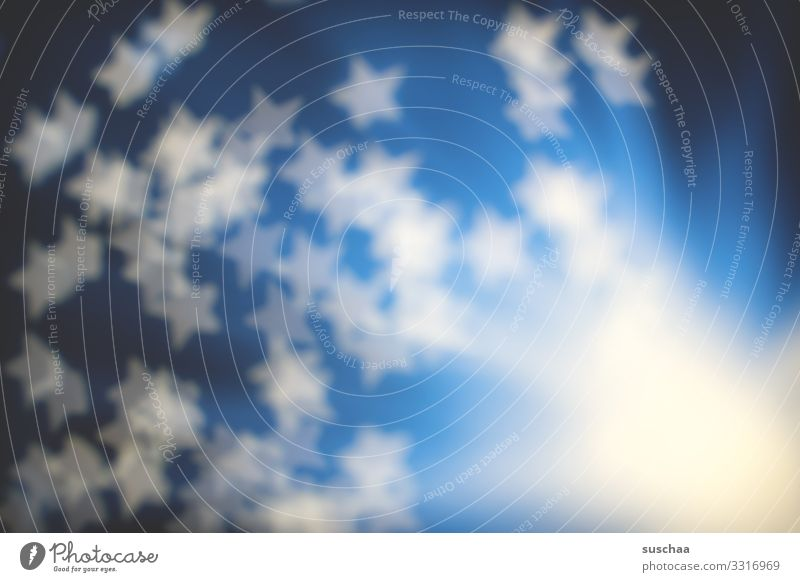 fuzzy stars Star (Symbol) Stars Blur Explosion Big Bang Abstract Blue Light Bright Hazy Structures and shapes Experimental