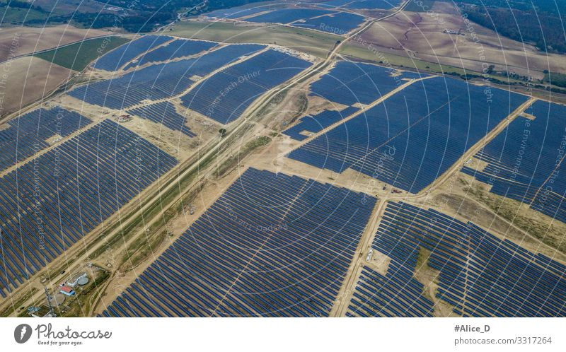 Photovoltaic park in Guillena, Spain Technology High-tech Energy industry Renewable energy Solar Power Industry Environment Gigantic Blue Bizarre Advancement