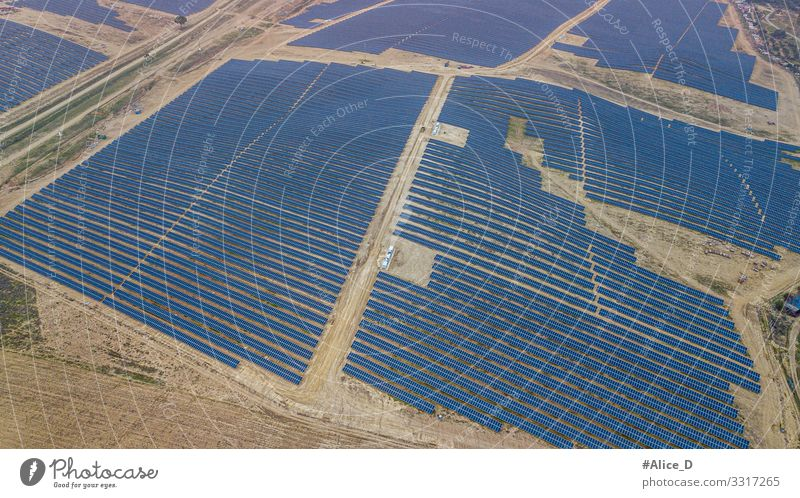 photovoltaic park in Guillena Spain Solar Power Solar cell Technology Science & Research High-tech Energy industry Renewable energy Industry Environment Nature
