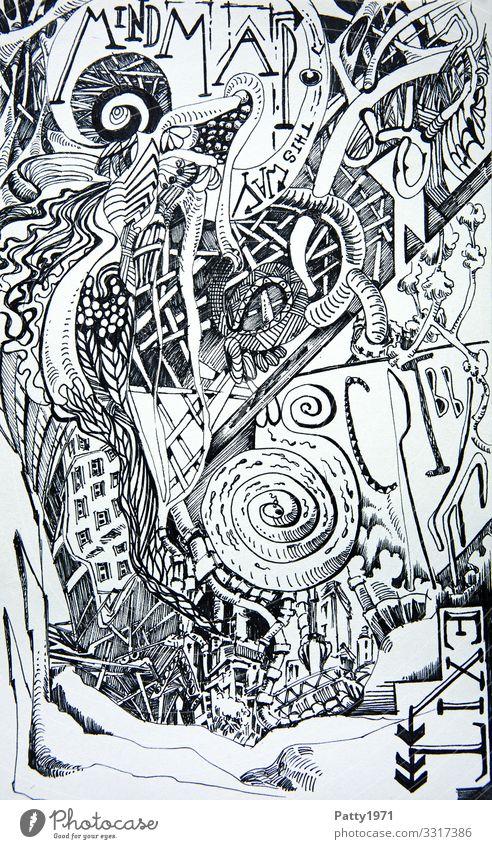 Art Creativity Fantastic Irritation Surrealism Drawing Bizarre Complex Scribbles