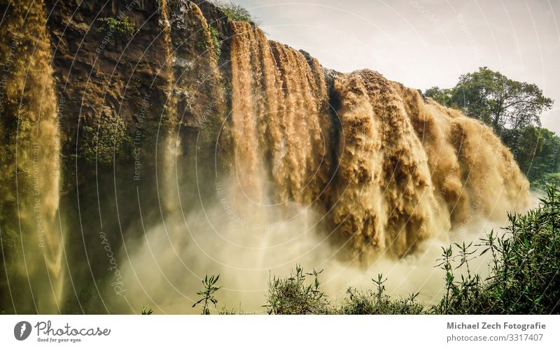 Popular Blue Nile Falls Waterfalls In Ethiopia Vacation & Travel Tourism Mountain Nature Landscape Clouds Tree Forest Canyon River Tourist Attraction Movement