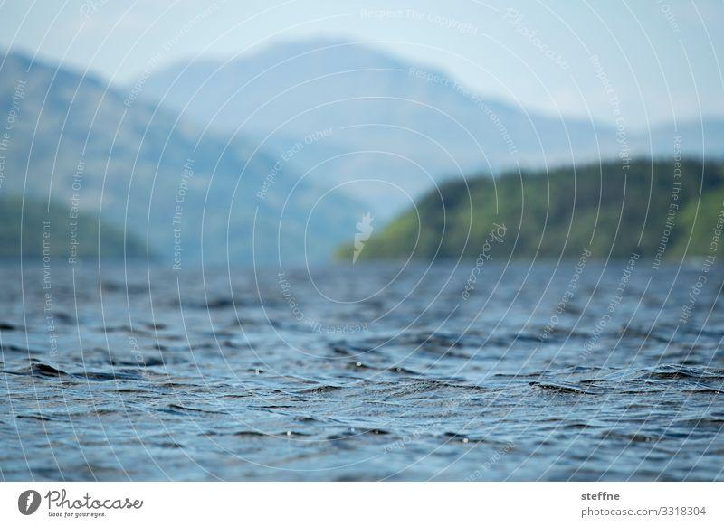 Blue Landscape Mountain Coast Waves Beautiful weather Peak Lakeside Bay Surface of water Scotland Fjord Vision Highlands Loch Lomond