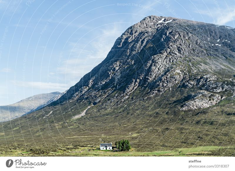 Sky Vacation & Travel Nature Landscape House (Residential Structure) Loneliness Travel photography Mountain Rock Esthetic Idyll Beautiful weather Peak
