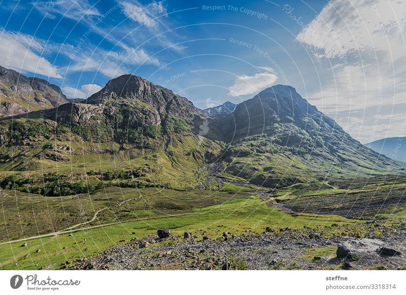 Vacation & Travel Nature Landscape Mountain Tourism Hiking Beautiful weather Peak Scotland Highlands