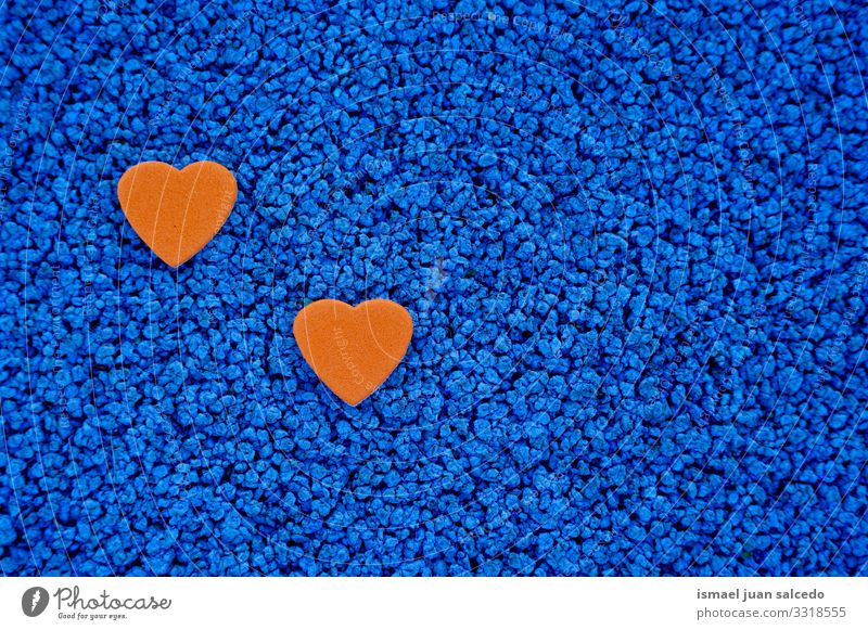 orange hearts decoration for valentine's day Blue Colour Background picture Love Emotions Feasts & Celebrations Orange Design Decoration Heart Gift Romance