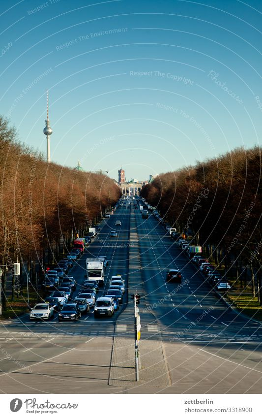 Road of 17 June east Berlin City Germany Far-off places Capital city Horizon Vacation & Travel Travel photography Skyline Town Tourism City life Overview Street