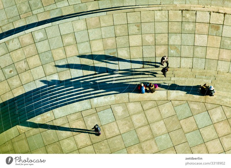 People from above Berlin City Germany Capital city Vacation & Travel Travel photography Town Tourism City life Human being Shadow Light Bird's-eye view Sidewalk