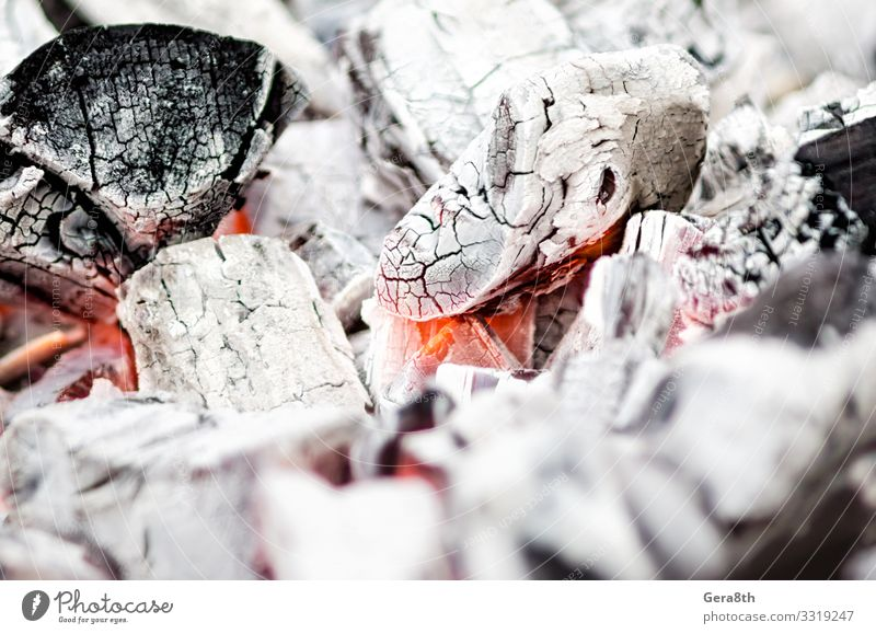 background pattern charcoals smolder close up Warmth Chimney Hot Red Black White black background burn burned out calefy cook Embers enchafe fervent fire