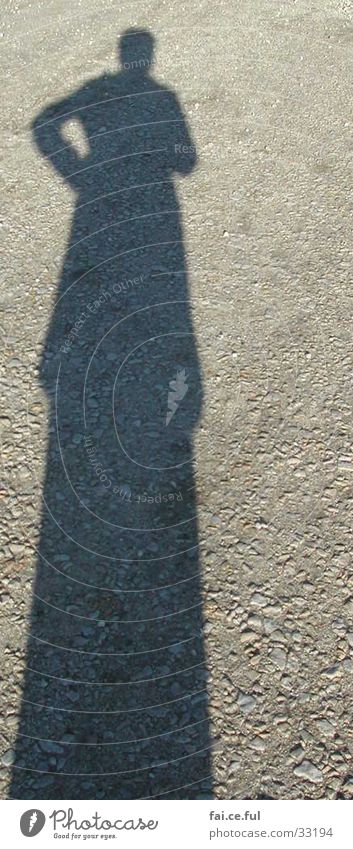 shadow woman Woman Afternoon sun Gravel Human being Shadow self-exposure Lanes & trails me