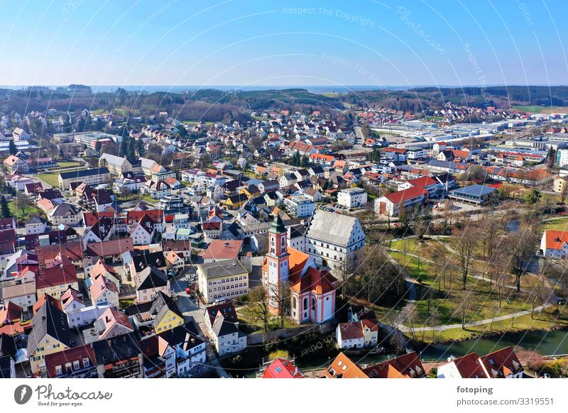Krumbach Beautiful Tourism Trip Sightseeing City trip Summer Sun Weather Town Old town Architecture Tourist Attraction Landmark Monument Historic Blue