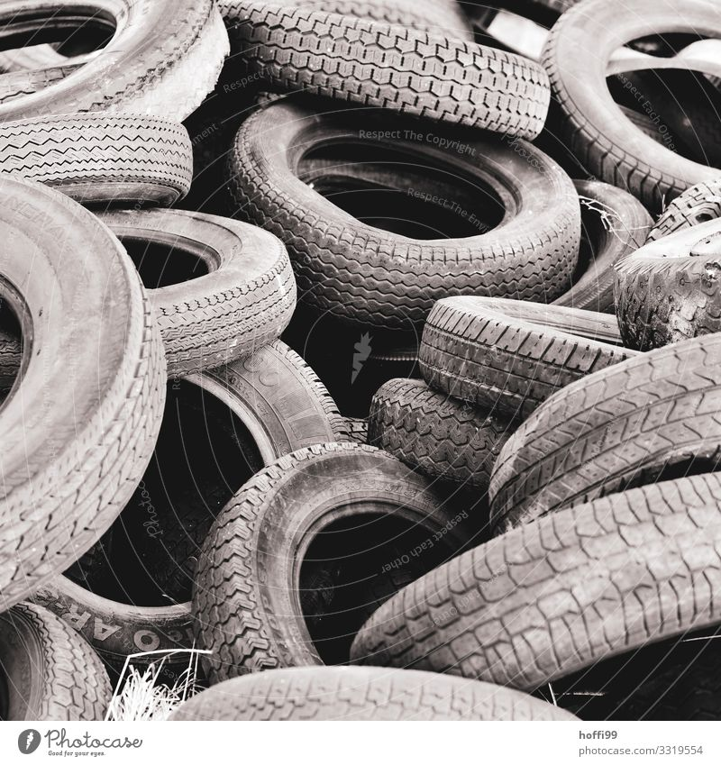 old tyres Car tire Tire Old Threat Dark Hideous Broken Gray Ignorant Frustration Chaos Apocalyptic sentiment Disappointment Concern Transience Trash
