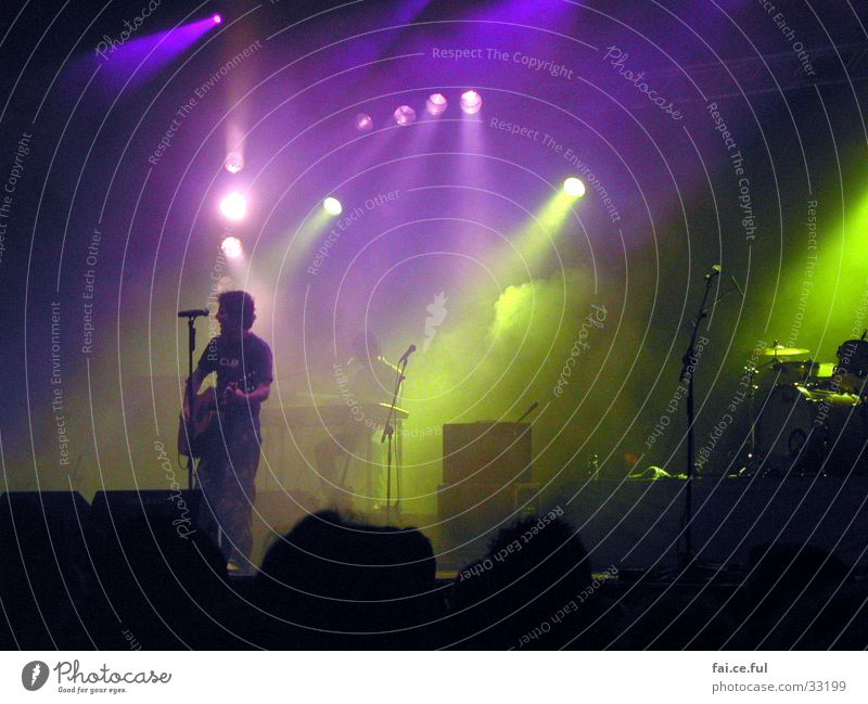 music maker Stage Light Fog Concert Moody Multicoloured Singer Music Colour Guitar String Evening