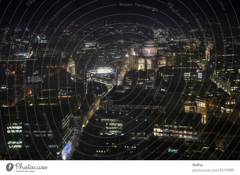Aerial view of London at night. Vacation & Travel Nature Town Relaxation Architecture Lifestyle Environment Style Business Tourism Work and employment Above