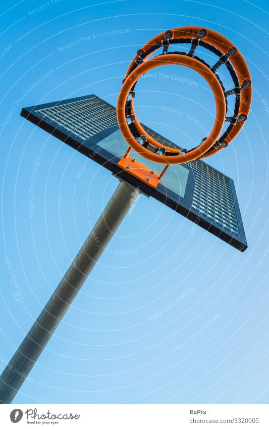 Outdoor basket for ball games. Lifestyle Style Design Healthy Athletic Fitness Leisure and hobbies Playing Sports Ball sports Sporting Complex Education School