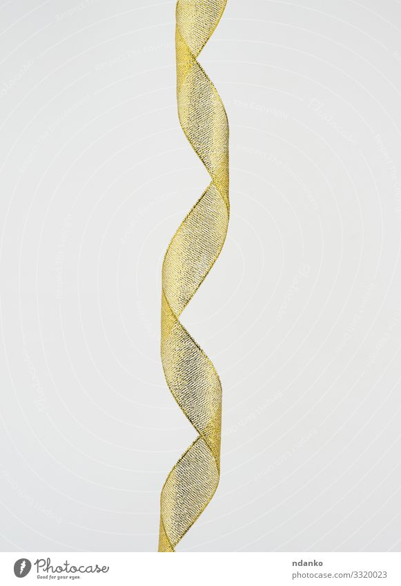 twisted golden silk decorative ribbon Design Beautiful Decoration Feasts & Celebrations Christmas & Advent Birthday Packaging String Glittering Modern New Soft