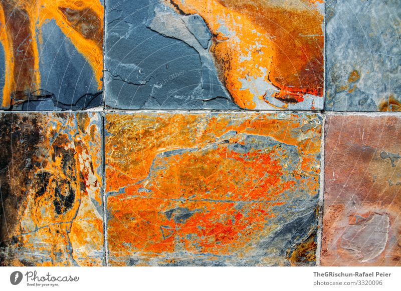 slabs Art Brown Gray Orange Record Structures and shapes Pattern Dye Progress Copper Rust Division Background picture Colour photo Exterior shot Experimental