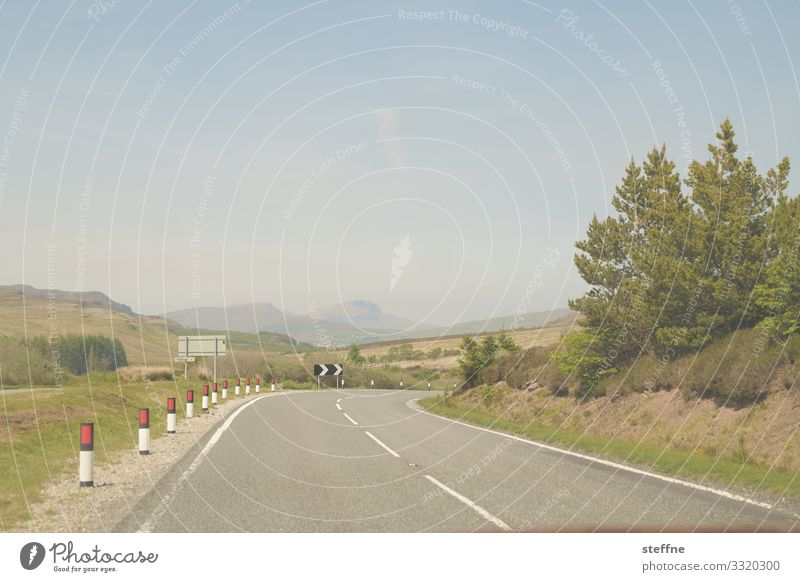 winding country road Street Country road Curve Trip Left-hand traffic Land Feature Vacation mood Scotland