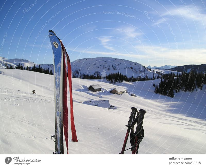 Winter Snow Mountain Skiing Alpine pasture