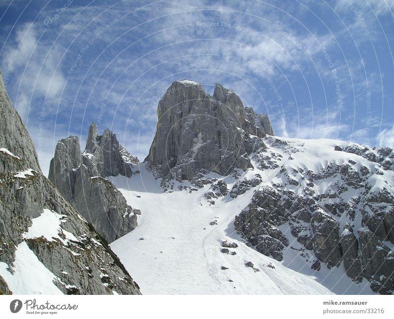 Winter Snow Mountain Climbing Snowscape Mountaineering Sky blue