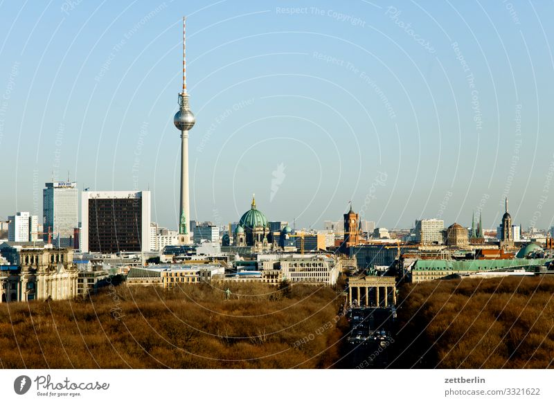 Skyline Berlin towards east City Germany Far-off places Capital city Horizon Vacation & Travel Travel photography Town Tourism City life Overview Street