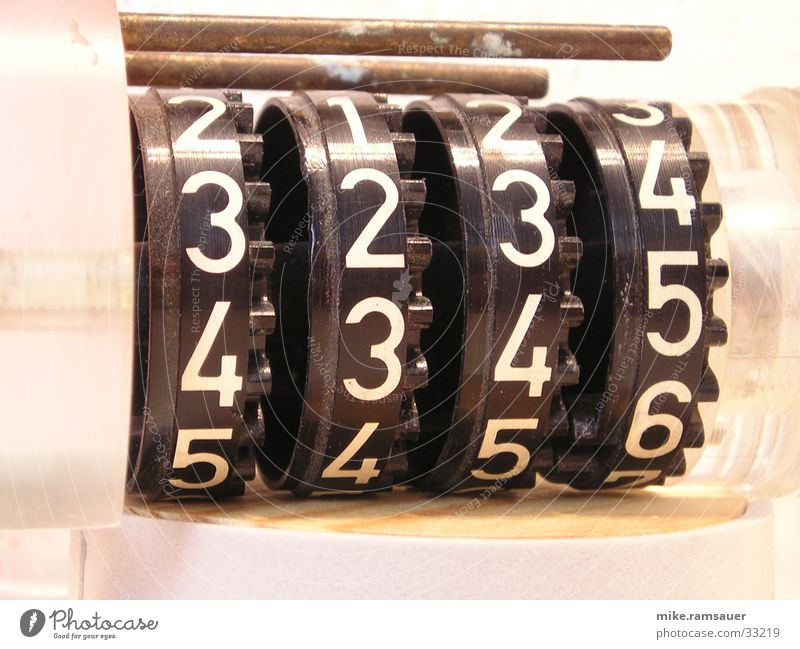 counter Counting mechanism Digits and numbers 3 4 5 Industry Wheel Technology Detail