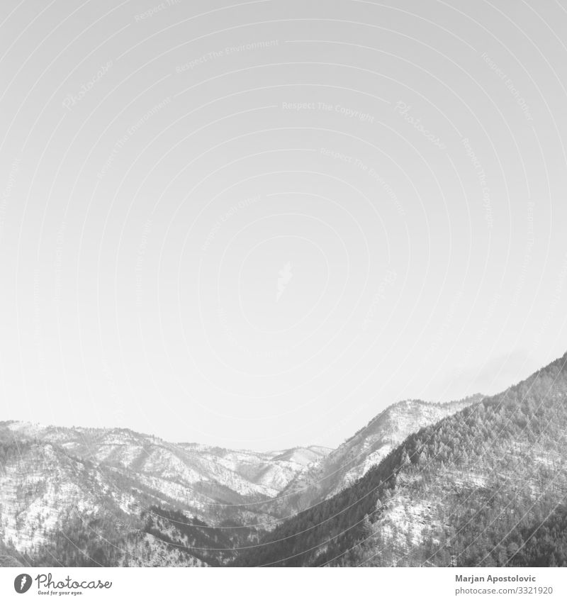 Beautiful black and white landscape in the mountains Vacation & Travel Nature Landscape Winter Mountain Life Environment Spring Snow Tourism Freedom Moody