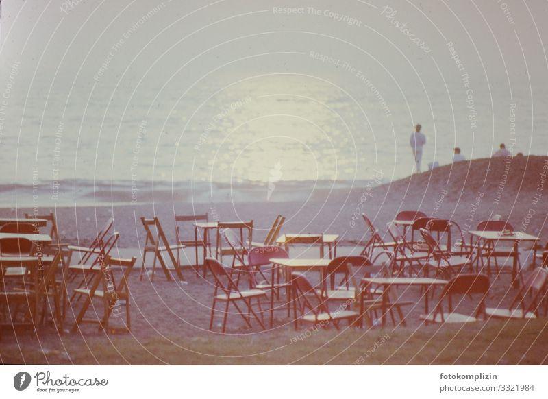 Vacation & Travel Summer Ocean Calm Far-off places Beach Style Tourism Together Moody Horizon Retro Dream Joie de vivre (Vitality) Empty Observe