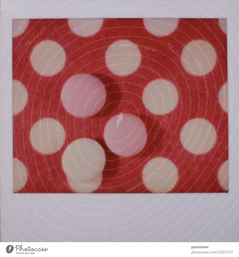 Polaroid shows dot patterns in pink and pinkish tones Food Candy Retro Round Sweet Pink White Geometry Repeating Hip & trendy Circle Colour photo Multicoloured