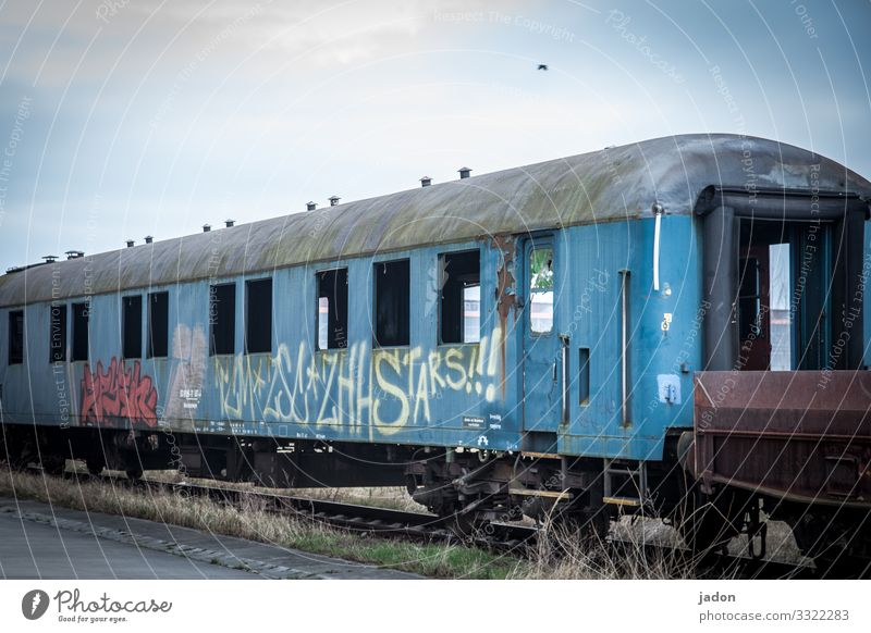 ghost train. Style Workplace Logistics Company Energy crisis Environment Industrial plant Transport Means of transport Passenger traffic Train travel
