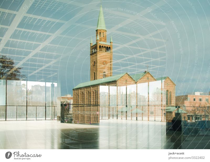 Reflective in the middle Museum Architecture Bauhaus Berlin zoo Downtown Church Window Tourist Attraction National gallery Famousness Sharp-edged Fantastic