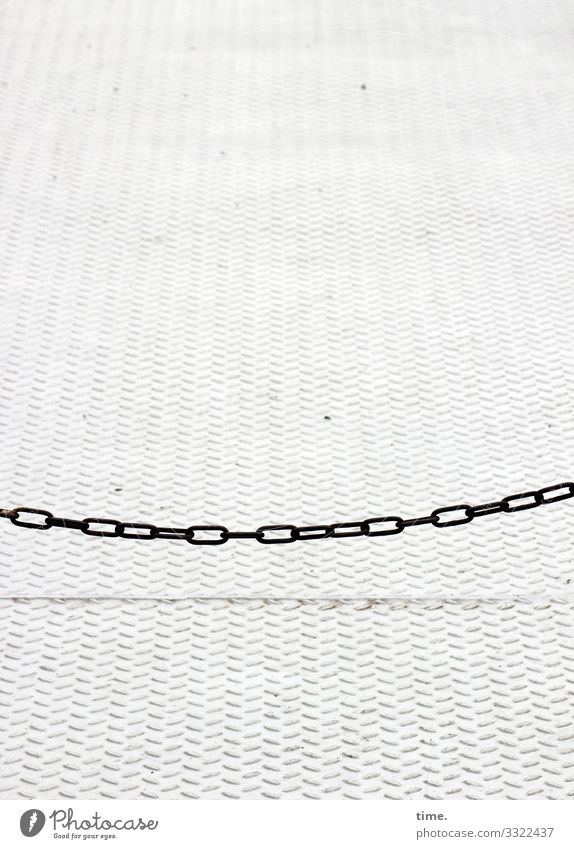 Chains (2) Navigation Ferry Tin Paving tiles Floor covering Simple Bright Maritime Safety Protection Endurance Unwavering Orderliness Respect Accuracy