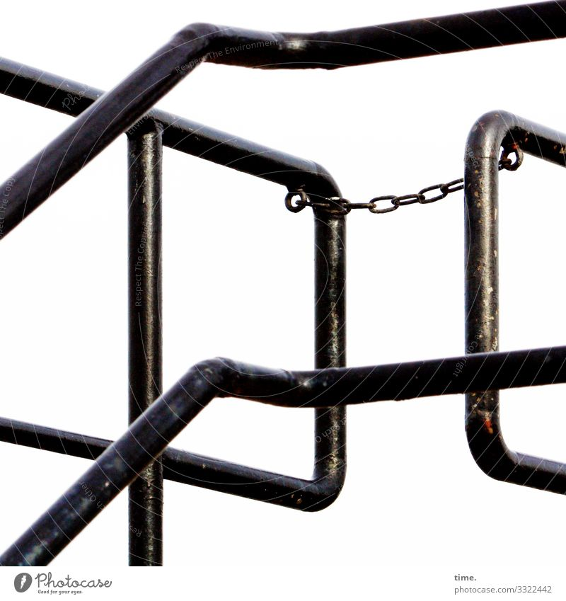Chains (5) Iron-pipe Handrail Metal Steel Line Stripe Black Safety Protection Responsibility Endurance Unwavering Orderliness Accuracy Inspiration