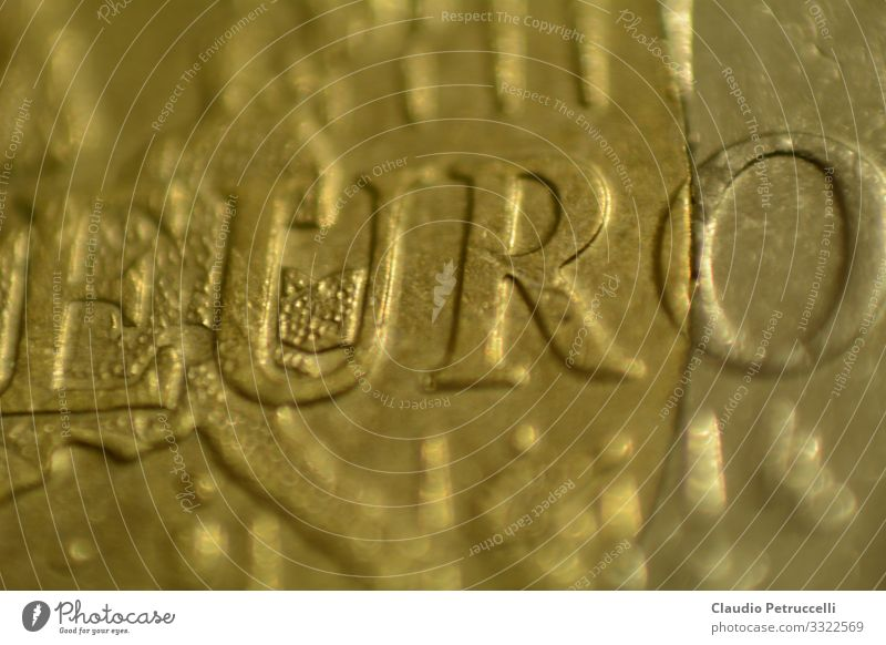 Euro coin lettering EURO Metal Sign Characters Money Paying Shopping Historic Trust Safety Business Financial Industry Advancement Freedom Society Identity