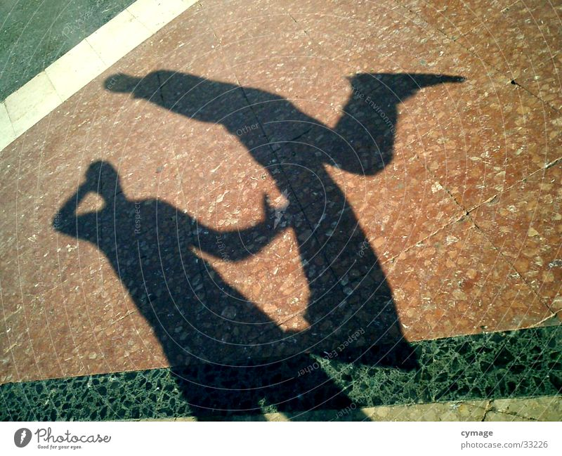 shadow-01 Barcelona Jump Man 2 Hop Silhouette Red Places Self portrait Kick Shadow Floor covering Exceptional