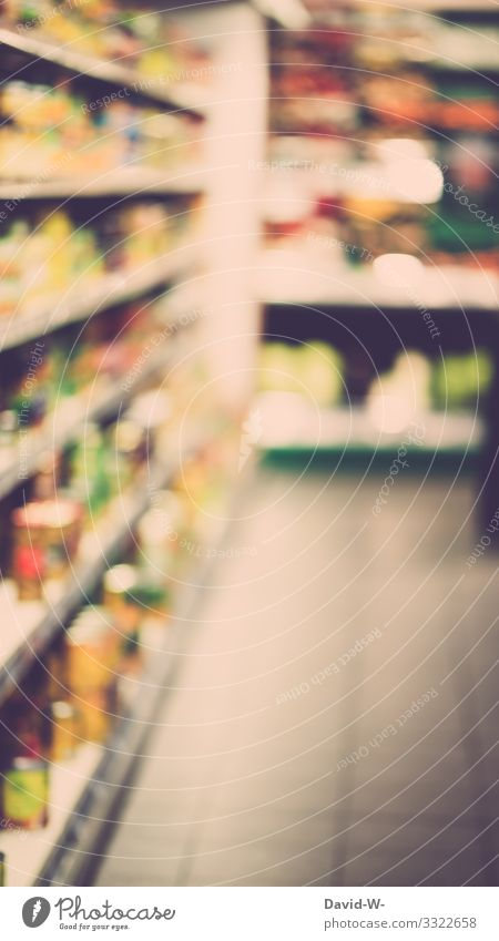 high depth of field in the grocery store Shopping Food Deep depth of field Blur Glazier Deserted Organic produce Nutrition Interior shot Eating Corridor
