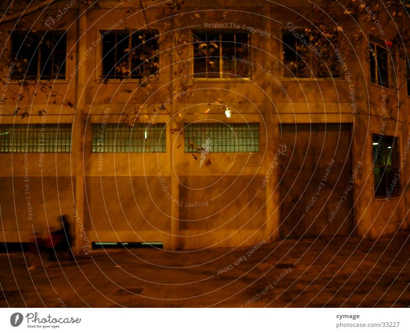 Human being Yellow Dark Window Architecture Building Orange Factory Gate Story Spain Warehouse Barcelona Frontal Front side Old building