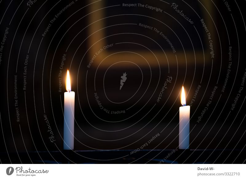 Candlelight text space Elegant Style Design Christmas & Advent Funeral service Human being Life Art Work of art Painting and drawing (object) Illuminate Sadness