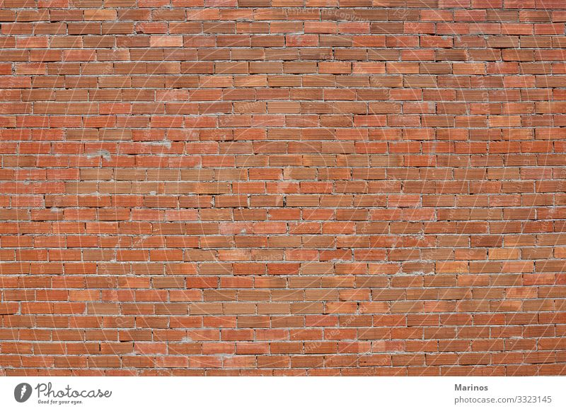 Brick wall as backgound. Wallpaper Building Architecture Concrete Old Red background Consistency orange masonry Solid backdrop construction Surface Cement block