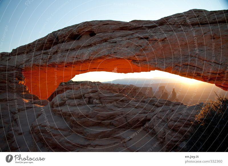 Nature Blue Vacation & Travel Landscape Far-off places Freedom Time Horizon Rock Brown Exceptional Orange Illuminate Tourism Adventure Change
