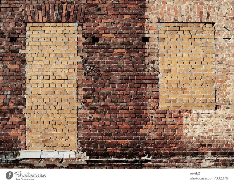 thermal insulation Wall (barrier) Wall (building) Facade Window Door Brick Brick facade Sharp-edged Sustainability Orange Red Closed stone on stone Insulation