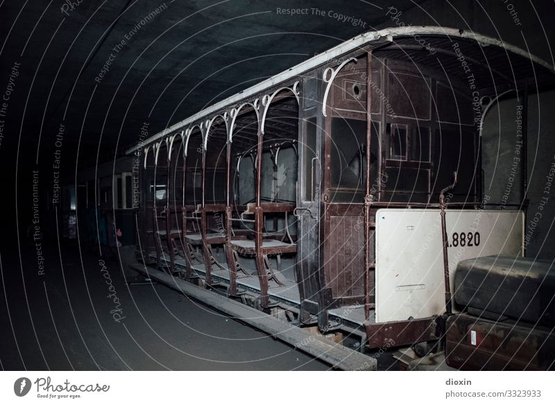 the tunnel | relic Adventure Tunnel Transport Means of transport Passenger traffic Public transit Road traffic Train travel Rail transport Tram Rail vehicle Old