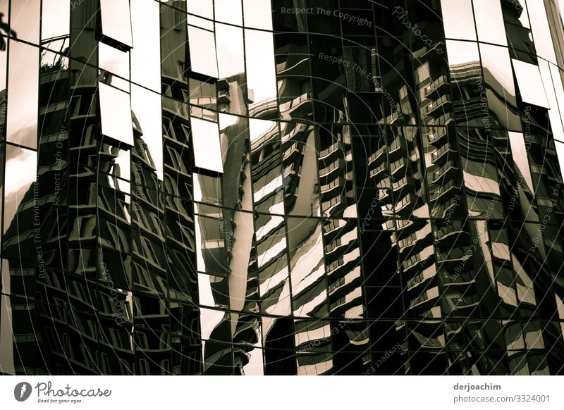 Reflection of a high-rise building Design Harmonious Trip Environment Summer Beautiful weather Town Metal Observe Discover To enjoy Looking Illuminate