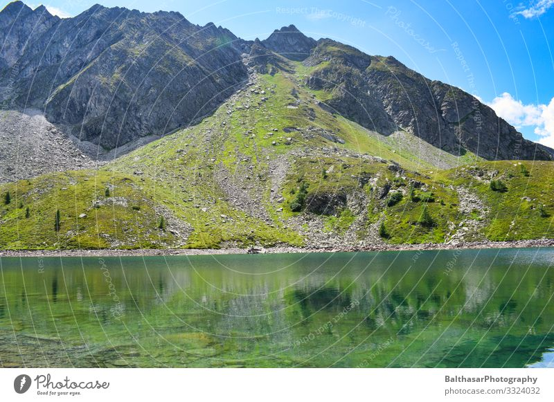 Mountain and Lake (Austria) Vacation & Travel Tourism Trip Freedom Summer Summer vacation Hiking Environment Nature Landscape Plant Elements Water Sky Clouds
