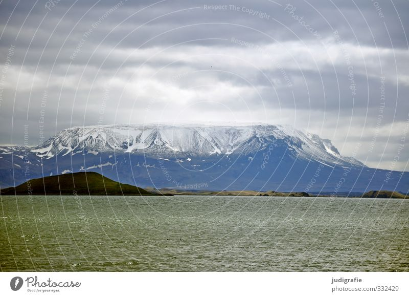 Iceland Environment Nature Landscape Sky Clouds Climate Frost Rock Mountain Volcano Lake Mývatn Exceptional Dark Fantastic Natural Wild Moody Colour photo