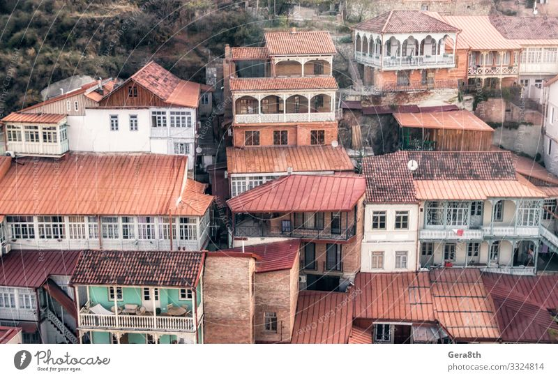 residential old quarter of a slum in the city of Georgia Vacation & Travel Tourism Trip House (Residential Structure) Building Architecture Balcony Street Stone