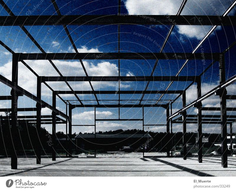 Line Architecture Industrial Photography Factory Construction site Warehouse Scaffold New building