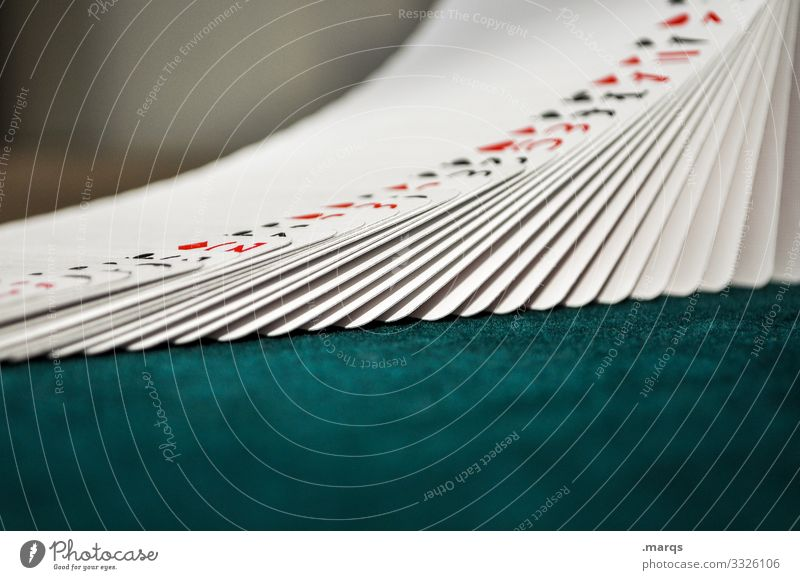Deck of cards in a row Playing Game of cards Poker Game of chance Chart house Loser Joker Mix Las Vegas Casino Trick Arrangement Creativity luck Success Betray