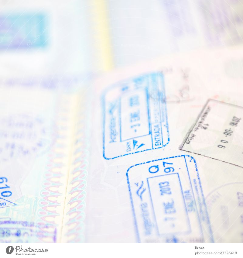 blur and passport in the white background Money Vacation & Travel Tourism Trip Freedom Business Airport Paper Collection White Safety (feeling of) Identity
