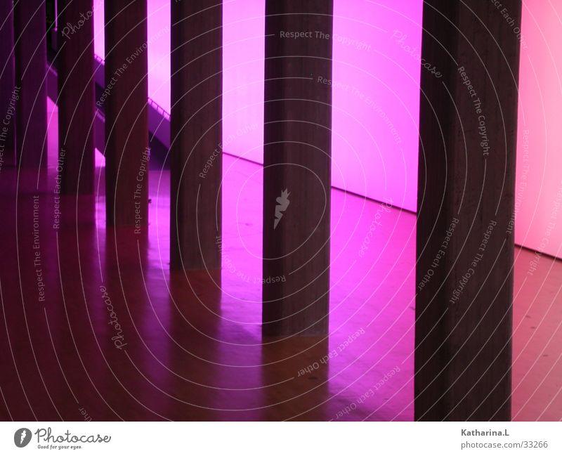 Colour Room Architecture Concrete Violet Warehouse Column